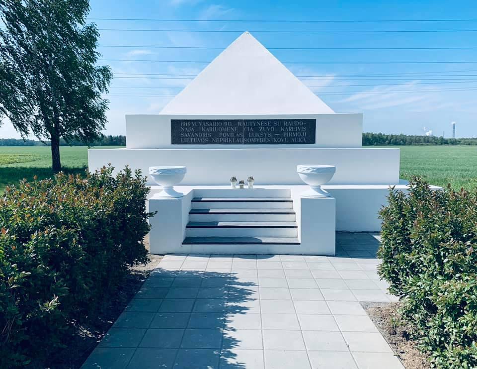 Povilo Lukšio paminklas. Paminklo rekonstrukcijos darbai.